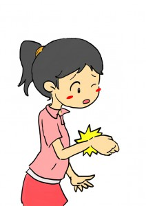 手の親指の付け根の痛み
