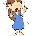 坐骨神経痛で悩む女性